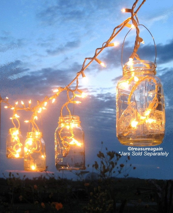 String Lights Wedding Diy : Mason Jar Party Lights 6 DIY Lantern Hangers for Wedding