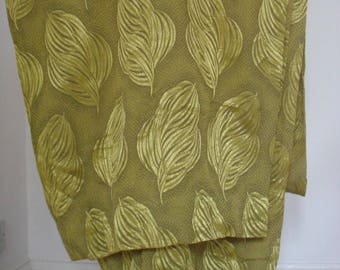 1950s / 1960s vintage damask/brocade/satin feel curtains fabric