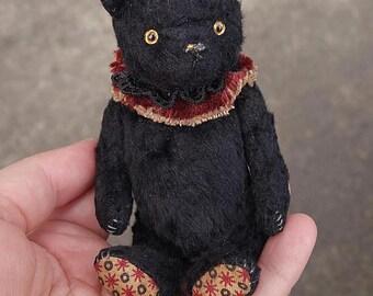 Wyatt, Miniature Black Artist Teddy Bear by Aerlinn Bears