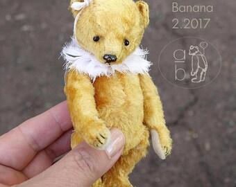 Lana Banana, Miniature Gold Artist Teddy Bear from Aerlinn Bears