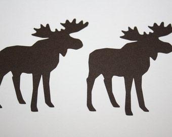 18 x Moose Die Cuts