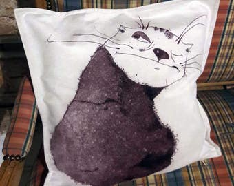 Original Graphic Art Design 17 x 17 inches Decorative Home Decor Pillow Cover 'Oleg'