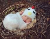 Baby Chicken Hat Farmyard Animal Newborn Photography Prop