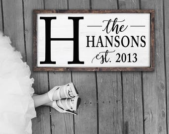 Family Name Established Sign | Personalized Rustic Sign | Wooden Name Sign | Custom Signs | Rustic Home Decor | Framed Sign