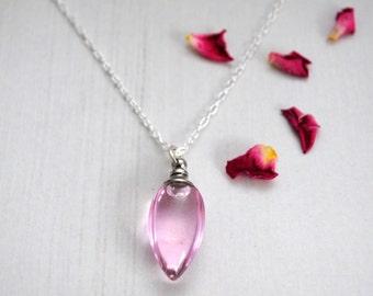 Rose Oil Pendant, Rose Oil Perfume, Essential Oils Aromatherapy, Organic Jojoba, Healing, Sterling Silver Pendant Necklace