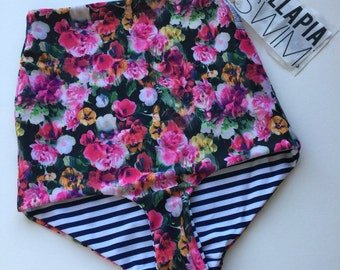 Highwaist Swimwear  Bottoms floral swim bottoms vintage swimwear frankie bottoms READY TO SHIP
