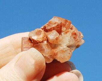 Aragonite Cluster / Aragonite Crystal / Aragonite Star Cluster / Moroccan Rust Colored Stone Star Cluster FREE SHIPPING
