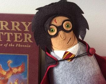 New Larger size Custom doll Harry plush figure Harry Potter inspired
