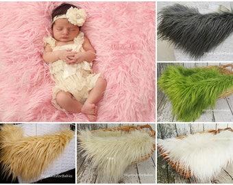 Newborn Faux Fur Mongolian, Newborn Photo Prop, Faux Fur Fabric, Newborn Photography Backdrop, Basket Stuffer, Faux Fur Prop