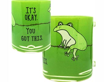 You Got This Green Frog Mug by Pithitude