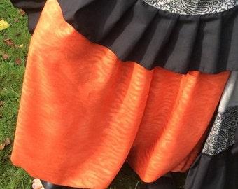 Harem pants, belly dance pants, tribal pantaloons, women's pants, orange pants, bloomers