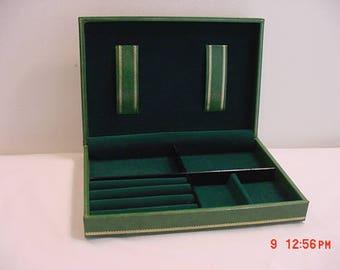 Vintage Men's Swank Skandinaviska Etuifabriken Sweden Jewelry Box With Crowns On Top  17 - 660
