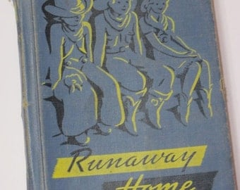 ON SALE Vintage Alice & Jerry Childrens Book-Runaway Home