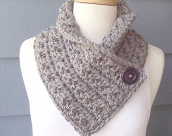 PATTERN C-089 / Crochet Pattern ... Tracy Cowl ... Chunky yarn/110 yards