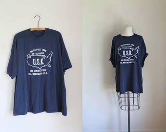 vintage 1980s tee - GENERAL STORE souvenir tshirt / XL