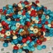 250-gram 5x3mm 8x4mm Rondelle Wood Beads Mixed Colors