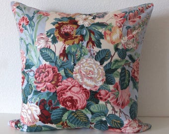 Shabby Chic Colorful Floral Pillow Cover