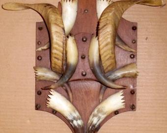 Vtg 1900's Tramp Art Wall Keys Rack Antique Folk Art Wall Key Holder Organizer Handmade Folk Art Primative