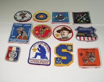 Vintage 90s Boy Scout Patches 12 Collectible Patches Souvenir Patch Sew On sm