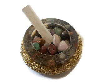 Orgone Charging Plate   Gold Reiki Energy Bowl   Energy Balance   Law of Attraction   Manifesting Candle Holder   Healing Crystals & Stones