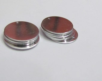 "3/4"" - Aluminum Premium 20 gauge -Blanks with hole - Necklace blanks - Pendant blanks -  Hand stamping metal  - tumbled blanks"