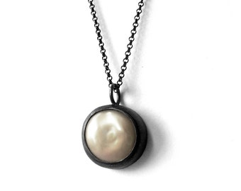 Baroque Pearl Necklace - Night And Day - Everyday Pearl Necklace - White Freshwater Pearl Necklace - Delicate Pearl Necklace - Ready To Ship