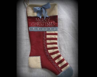Olde Glory Stocking - Christmas Past Stocking Collection KIT by cheswickcompany