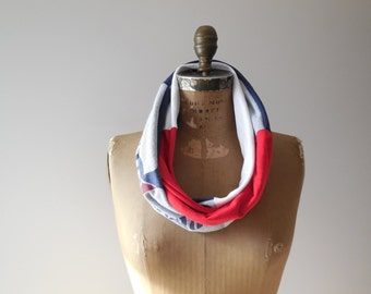 University of Pennsylvania TShirt Scarf Womens Tee Scarf Upcycled Infinity Scarf Cotton Scarf Gift For Her Handmade Scarf ohzie