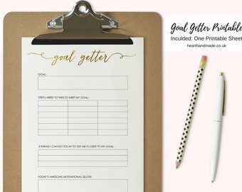 A4 Size Goal Planning Printable For Your Planner Large Planner