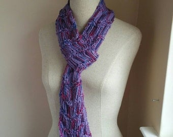 The Fascinate Scarf in Lilac Grape Magenta Natural Cotton