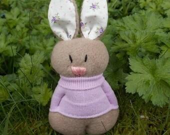 stuffed rabbit, plush rabbit, Easter rabbit, bunny rabbit, spring rabbit, lilac rabbit, stuffed bunny, plush bunny, rabbit doll