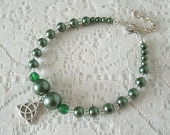 Celtic Bracelet, wiccan jewelry pagan jewelry wicca jewelry celtic jewelry witch witchcraft druid goddess pagan bracelet wiccan bracelet