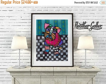 50% Off Today- Schnauzer art Art Print Poster by Heather Galler Dog (HG820)