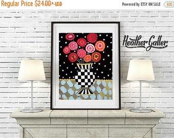 50% Off Today- Flower Art Floral art Art Print Poster by Heather Galler (HG432)
