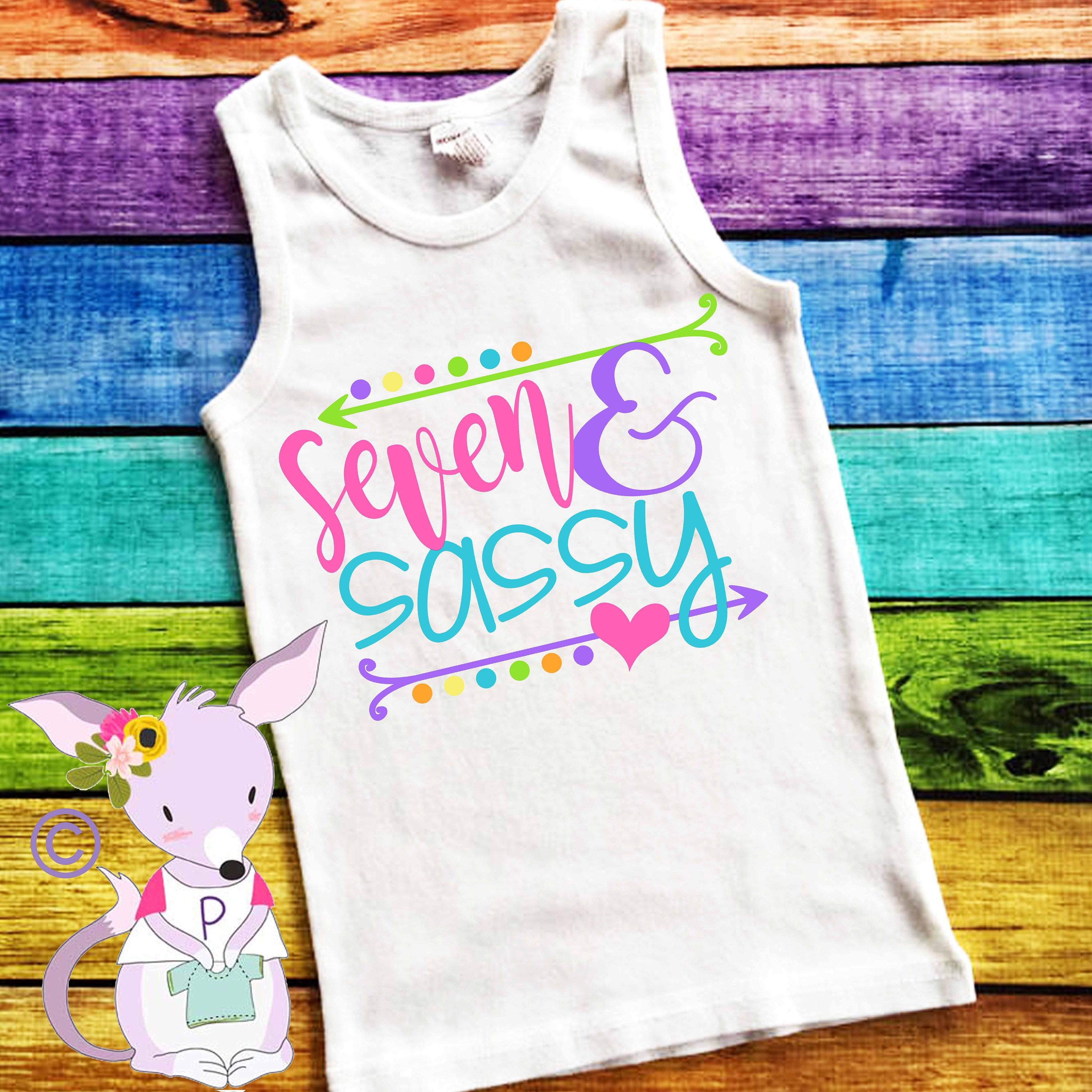 Six and Sassy Birthday Outfit Girl Birthday Shirt Girl 6th ... |Sassy Birthday Shirts
