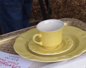 Vintage Ironstone 3 piece dish set - Color: Butter Yellow