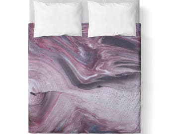 PURPLE Abstract Marble Duvet Cover / Bedding/ Comforter Cover/ Twin, Queen duvet cover, King duvet cover/ Marble/PURPLE / ABSTRACT