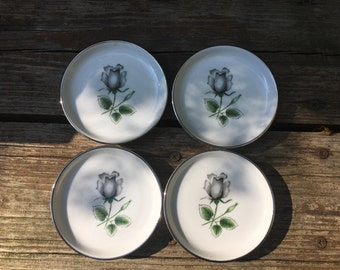 Set of 4 Stonegate Midnight Rose Coasters