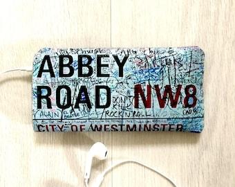 iPhone 7 Felt Case, iPhone 6/6S Case, iPhone 5/5S/5C Case - Abbey Road Street Sign Famous London Beatles Street - Soft Felt iPhone Sleeve