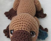 FLASH SALE Crochet Pattern Platypus by Teri Crews Wool and Whims Instant Download PDF format