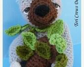 FLASH SALE Crochet Pattern Sloth by Teri Crews Instant Download PDF Format Crochet Toy Pattern