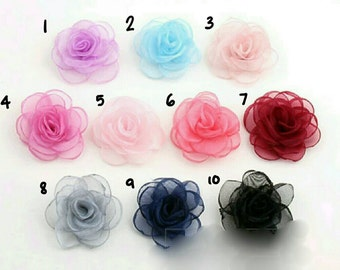 Organza rose (use for many purposes ) - handmade