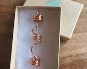 Copper Swirl Dreadlock Bead