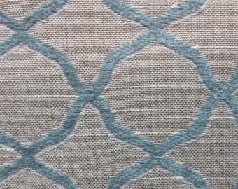 BASILICA la mer blue, chenille woven multipurpose fabric