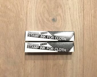 Riso Print Gocco Ink for Cloth and Fabric - Black - 2 pack