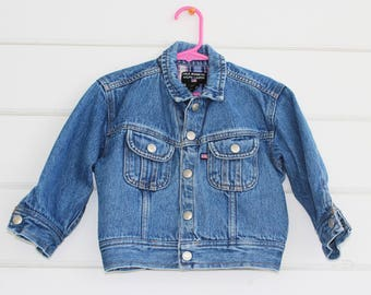 Vintage Toddler Denim Jacket Ralph Lauren Polo Jeans 2T