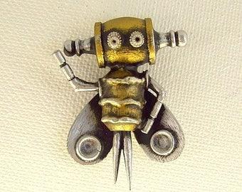 Buzzbee the Robot Bee Cufflinks RESV for Paul Mark II Wood