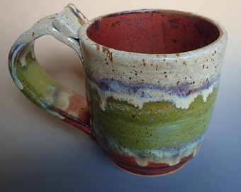 Kick This Day in Its Sunshiny Ass Handmade Stoneware Coffee Mug Dirty Dishes