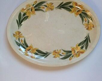 Shenandoah Ware - DAFFODIL PATTERN  Oval Shaped Serving Platter by Paden City Pottery Co! USA