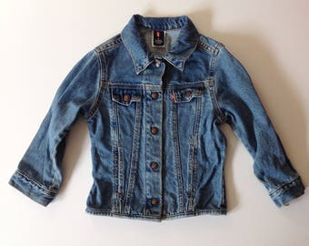 Levis denim jacket, size 6 youth, Jacket, Levi's youth 6, denim jacket, youth denim, denim jacket, toddler jacket
